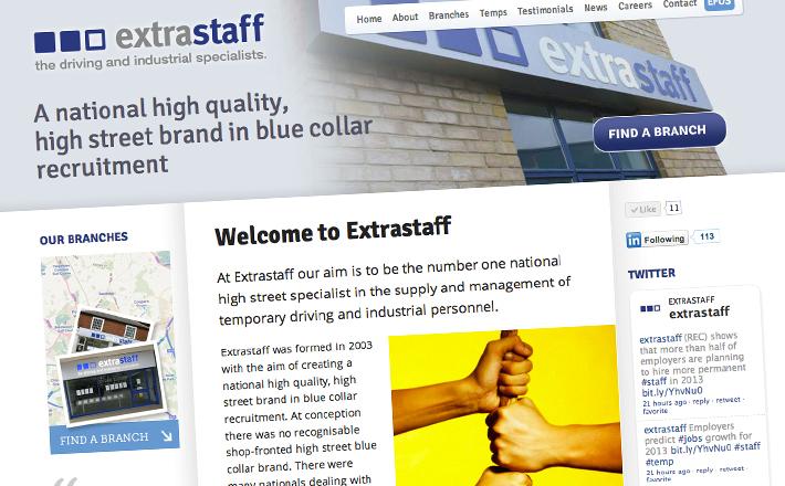 Extrastaff homepage